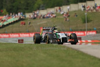 World © Octane Photographic Ltd. 2014 Friday 25th July 2014. Hungarian GP, Hungaroring - Budapest. Practice 2. Sahara Force India VJM07 – Sergio Perez. Digital Ref: 1057LB1D0847