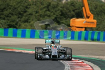World © Octane Photographic Ltd. 2014 Saturday 26th July 2014. Hungarian GP, Hungaroring - Budapest. Practice 3. Mercedes AMG Petronas F1 W05 Hybrid – Lewis Hamilton. Digital Ref: 1064LB1D1163