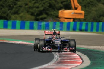 World © Octane Photographic Ltd. 2014 Saturday 26th July 2014. Hungarian GP, Hungaroring - Budapest. Practice 3. Scuderia Toro Rosso STR 9 – Daniil Kvyat. Digital Ref: 1064LB1D1181