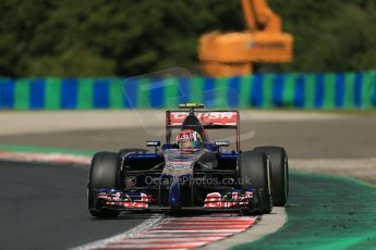 World © Octane Photographic Ltd. 2014 Saturday 26th July 2014. Hungarian GP, Hungaroring - Budapest. Practice 3. Scuderia Toro Rosso STR 9 – Daniil Kvyat. Digital Ref: 1064LB1D1271