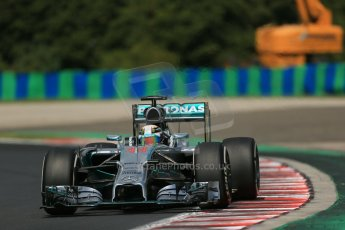 World © Octane Photographic Ltd. 2014 Saturday 26th July 2014. Hungarian GP, Hungaroring - Budapest. Practice 3. Mercedes AMG Petronas F1 W05 Hybrid – Lewis Hamilton. Digital Ref: 1064LB1D1306