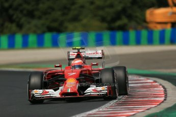 World © Octane Photographic Ltd. 2014 Saturday 26th July 2014. Hungarian GP, Hungaroring - Budapest. Practice 3. Scuderia Ferrari F14T – Kimi Raikkonen. Digital Ref: 1064LB1D1430