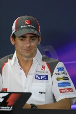 World © Octane Photographic Ltd. Thursday 24th July 2014. Hungarian GP, Hungaroring - Budapest - Formula 1 FIA Press Conference. Sauber C33 – Esteban Gutierrez. Digital Ref: 1054LB1D8960
