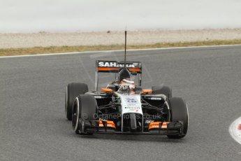 World © Octane Photographic Ltd. Tuesday 13th May 2014. Circuit de Catalunya - Spain - Formula 1 In-Season testing. Sahara Force India VJM07 – Nico Hulkenburg. Digital Ref :