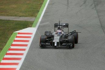 World © Octane Photographic Ltd. Tuesday 13th May 2014. Circuit de Catalunya - Spain - Formula 1 In-Season testing. McLaren Mercedes MP4/29 - Jenson Button. Digital Ref: