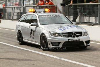 World © Octane Photographic Ltd. Friday 5th September 2014. Italian GP, Monza, Italy - F1 Practice 1. Mercedes-Benz C63 AMG Estate Medical Car. Digital Ref : 1094CB7D9075