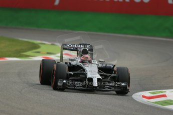 World © Octane Photographic Ltd. Friday 5th September 2014, Italian GP, Monza - Italy  - Formula 1 Practice 1. McLaren Mercedes MP4/29 - Jenson Button. Digital Ref: 1094LB1D3092