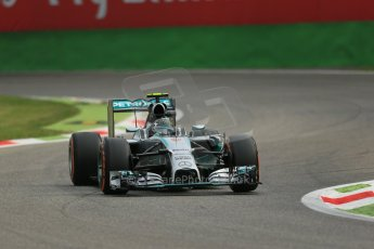 World © Octane Photographic Ltd. Friday 5th September 2014, Italian GP, Monza - Italy  - Formula 1 Practice 1. Mercedes AMG Petronas F1 W05 Hybrid - Nico Rosberg. Digital Ref: 1094LB1D3143