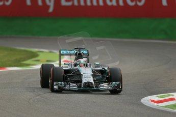 World © Octane Photographic Ltd. Friday 5th September 2014, Italian GP, Monza - Italy  - Formula 1 Practice 1. Mercedes AMG Petronas F1 W05 Hybrid – Lewis Hamilton. Digital Ref: 1094LB1D3148