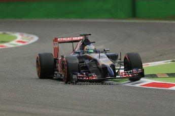 World © Octane Photographic Ltd. Friday 5th September 2014, Italian GP, Monza - Italy  - Formula 1 Practice 1. Scuderia Toro Rosso STR9 - Jean-Eric Vergne. Digital Ref: 1094LB1D3214