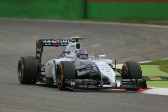 World © Octane Photographic Ltd. Friday 5th September 2014, Italian GP, Monza - Italy  - Formula 1 Practice 1. Williams Martini Racing FW36 – Valtteri Bottas. Digital Ref: 1094LB1D3345