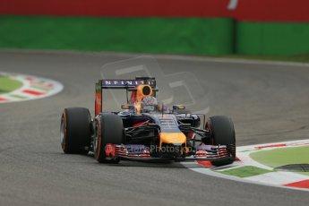 World © Octane Photographic Ltd. Friday 5th September 2014, Italian GP, Monza - Italy Formula 1 Practice 1. Infiniti Red Bull Racing RB10 - Sebastian Vettel. Digital Ref: 1094LB1D3483