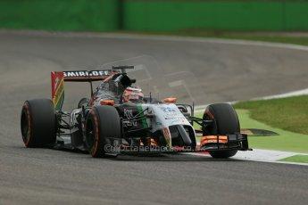 World © Octane Photographic Ltd. Friday 5th September 2014, Italian GP, Monza - Italy - Formula 1 Practice 1. Sahara Force India VJM07 – Nico Hulkenburg. Digital Ref : 1094LB1D3545