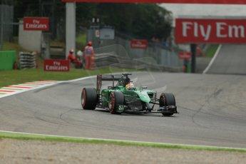 World © Octane Photographic Ltd. Friday 5th September 2014, Italian GP, Monza - Italy - Formula 1 Practice 1. Caterham F1 Team CT05 – Roberto Merhi. Digital Ref: 1094LB1D3585