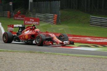 World © Octane Photographic Ltd. Friday 5th September 2014, Italian GP, Monza - Italy  - Formula 1 Practice 1. Scuderia Ferrari F14T – Kimi Raikkonen. Digital Ref: 1094LB1D3613