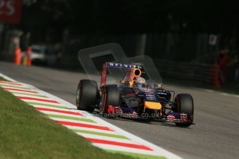 World © Octane Photographic Ltd. Friday 5th September 2014, Italian GP, Monza - Italy. Formula 1 Practice 2. Infiniti Red Bull Racing RB10 - Sebastian Vettel. Digital Ref: 1097LB1D4237