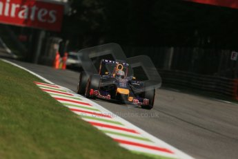 World © Octane Photographic Ltd. Friday 5th September 2014, Italian GP, Monza - Italy. Formula 1 Practice 2. Infiniti Red Bull Racing RB10 - Sebastian Vettel. Digital Ref: 1097LB1D4265