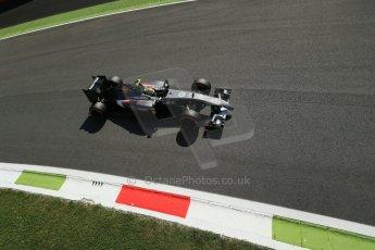 World © Octane Photographic Ltd. Saturday 6th September 2014, Italian GP, Monza - Italy. - Formula 1 Practice 3. Sauber C33 – Esteban Gutierrez. Digital Ref : 1100LB1D5382