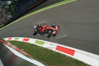 World © Octane Photographic Ltd. Saturday 6th September 2014, Italian GP, Monza - Italy. - Formula 1 Practice 3. Scuderia Ferrari F14T – Kimi Raikkonen. Digital Ref: 1100LB1D5563