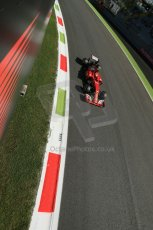World © Octane Photographic Ltd. Saturday 6th September 2014, Italian GP, Monza - Italy. - Formula 1 Practice 3. Scuderia Ferrari F14T – Kimi Raikkonen. Digital Ref: 1100LB1D5634