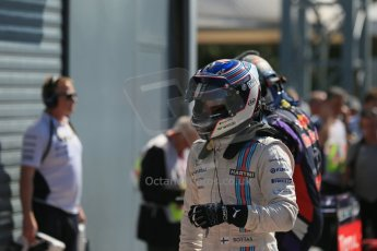 World © Octane Photographic Ltd. Saturday 6th September 2014, Italian GP, Monza - Italy. - Formula 1 Qualifying Parc Ferme. Williams Martini Racing FW36 – Valtteri Bottas. Digital Ref: 1106LB1D6241