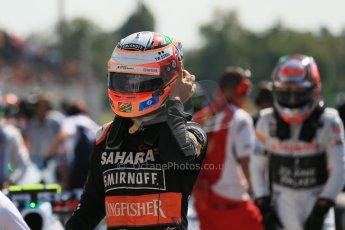 World © Octane Photographic Ltd. Saturday 6th September 2014, Italian GP, Monza - Italy. - Formula 1 Qualifying Parc Ferme. Sahara Force India VJM07 – Nico Hulkenburg. Digital Ref : 1106LB1D6284