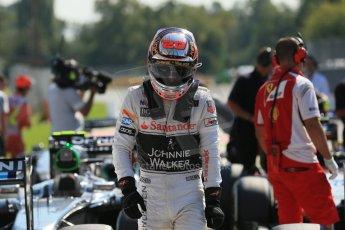 World © Octane Photographic Ltd. Saturday 6th September 2014, Italian GP, Monza - Italy. - Formula 1 Qualifying Parc Ferme. McLaren Mercedes MP4/29 – Kevin Magnussen. Digital Ref: 1106LB1D6288
