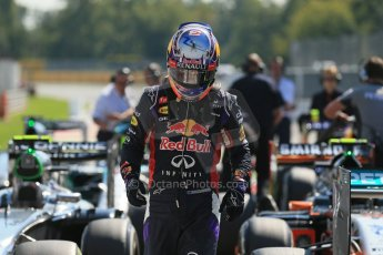 World © Octane Photographic Ltd. Saturday 6th September 2014, Italian GP, Monza - Italy. - Formula 1 Qualifying Parc Ferme. Infiniti Red Bull Racing RB10 – Daniel Ricciardo. Digital Ref: 1106LB1D6317
