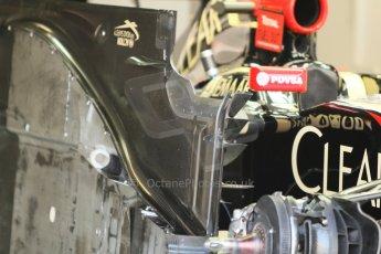 World © Octane Photographic Ltd. Sunday 7th September 2014, Italian GP, Monza - Italy  - Formula 1 Race Preparation. Lotus E22 floor detail. Digital Ref : 1096CB7D0420