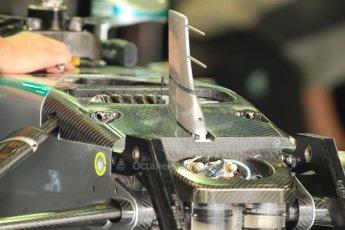 World © Octane Photographic Ltd. Friday 5th September 2014, Italian GP, Monza - Italy - Formula 1 Practice 1. Mercedes AMG Petronas F1 W05 Hybrid front spring. Digital Ref: 1096CB7D7320