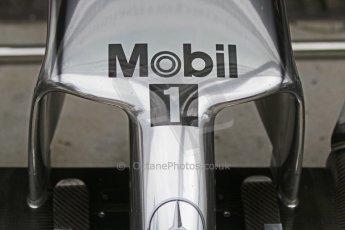 World © Octane Photographic Ltd. Friday 5th September 2014, Italian GP, Monza - Italy - Formula 1 Practice 1. McLaren Mercedes MP4/29 nose. Digital Ref:  1096CB7D8856