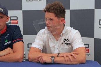 World © Octane Photographic Ltd. Saturday 6th September 2014. GP3 Qualifying press conference, Italian GP, Monza - Italy. Nick Yelloly - Status Grand Prix (3rd). Digital Ref : 1103CB7D7401