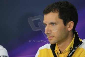 World © Octane Photographic Ltd. Friday 3rd October 2014, Japanese Grand Prix - Suzuka. - Formula 1 Drivers' Press conference. Renault F1 Head of Track Operations – Remi Taffin. Digital Ref:
