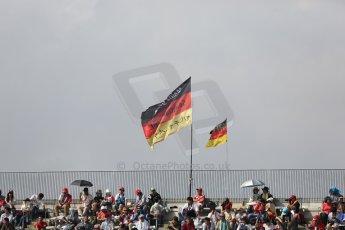 World © Octane Photographic Ltd. Friday 3rd October 2014, Japanese Grand Prix - Suzuka. - Formula 1 Practice 2. Sebastian Vettel fans flag. Digital Ref: