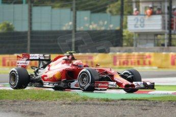 World © Octane Photographic Ltd. Friday 3rd October 2014, Japanese Grand Prix - Suzuka. - Formula 1 Practice 2. Scuderia Ferrari F14T – Kimi Raikkonen. Digital Ref:
