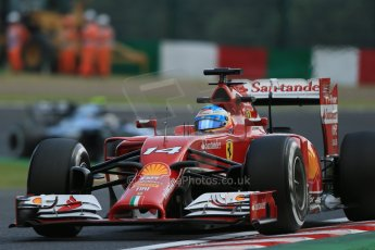 World © Octane Photographic Ltd. Friday 3rd October 2014, Japanese Grand Prix - Suzuka. - Formula 1 Practice 2. Scuderia Ferrari F14T - Fernando Alonso. Digital Ref: