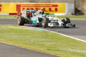 World © Octane Photographic Ltd. Saturday 4th October 2014, Japanese Grand Prix - Suzuka. - Formula 1 Qualifying. Mercedes AMG Petronas F1 W05 Hybrid - Nico Rosberg. Digital Ref: