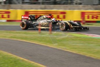 World © Octane Photographic Ltd. Saturday 4th October 2014, Japanese Grand Prix - Suzuka. - Formula 1 Qualifying. Lotus F1 Team E22 - Romain Grosjean. Digital Ref: