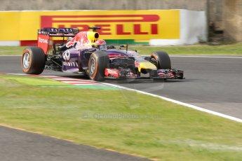 World © Octane Photographic Ltd. Saturday 4th October 2014, Japanese Grand Prix - Suzuka. Formula 1 Qualifying. Infiniti Red Bull Racing RB10 - Sebastian Vettel. Digital Ref: