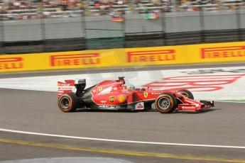 World © Octane Photographic Ltd. Saturday 4th October 2014, Japanese Grand Prix - Suzuka. - Formula 1 Qualifying. Scuderia Ferrari F14T - Fernando Alonso. Digital Ref: