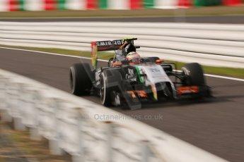 World © Octane Photographic Ltd. Saturday 4th October 2014, Japanese Grand Prix - Suzuka. - Formula 1 Qualifying. Sahara Force India VJM07 – Sergio Perez. Digital Ref: