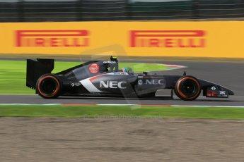 World © Octane Photographic Ltd. Saturday 4th October 2014, Japanese Grand Prix - Suzuka. - Formula 1 Qualifying. Sauber C33 – Esteban Gutierrez. Digital Ref :