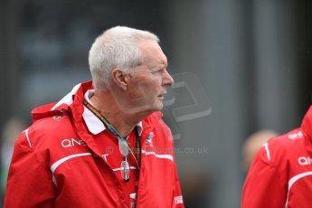 World © Octane Photographic Ltd. Sunday 5th October 2014, Japanese Grand Prix - Suzuka. Formula 1 Paddock. Marussia F1 Team - John Booth. Digital Ref: 1138CB5D6597