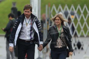 World © Octane Photographic Ltd. Sunday 5th October 2014, Japanese Grand Prix - Suzuka. Formula 1 Paddock. Williams Martini Racing - Rob and Lucy Smedley. Digital Ref: 1138CB5D6620