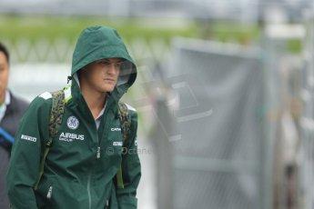 World © Octane Photographic Ltd. Sunday 5th October 2014, Japanese Grand Prix - Suzuka. Formula 1 Paddock. Caterham F1 Team - Marcus Ericsson. Digital Ref: 1138CB5D6651