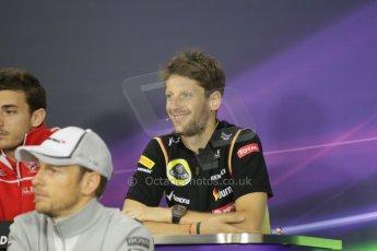 World © Octane Photographic Ltd. Thursday 2nd October 2014, Japanese Grand Prix - Suzuka. - Formula 1 Drivers' Press conference. Lotus F1 Team - Romain Grosjean. Digital Ref: