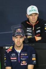 World © Octane Photographic Ltd. Thursday 2nd October 2014, Japanese Grand Prix - Suzuka. Formula 1 Drivers' Press conference. Infiniti Red Bull Racing - Sebastian Vettel. Digital Ref: 1131LB1D4159