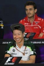 World © Octane Photographic Ltd. Thursday 2nd October 2014, Japanese Grand Prix - Suzuka. - Formula 1 Drivers' Press conference. Caterham F1 Team – Kamui Kobayashi. Digital Ref: 1131LB1D4165