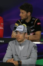 World © Octane Photographic Ltd. Thursday 2nd October 2014, Japanese Grand Prix - Suzuka. - Formula 1 Drivers' Press conference. McLaren Mercedes - Jenson Button. Digital Ref: 1131LB1D4263