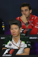 World © Octane Photographic Ltd. Thursday 2nd October 2014, Japanese Grand Prix - Suzuka. - Formula 1 Drivers' Press conference. Caterham F1 Team – Kamui Kobayashi. Digital Ref: 1131LB1D4315